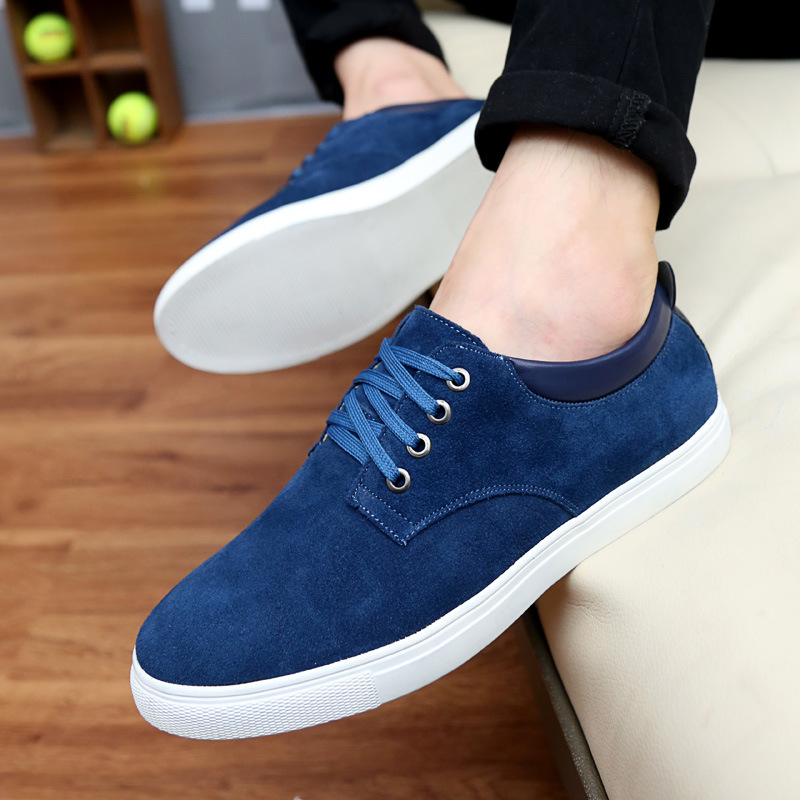 Drop shipping men's casual suede large size sneakers fashion leather sports shoes 45 46 47 48 men's shoes