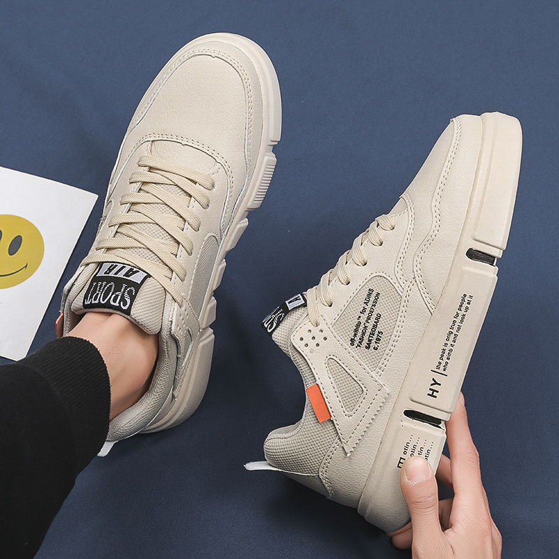 2020 summer new men's sneakers student breathable low-top sneakers men's shoes trendy sports white shoes one drop