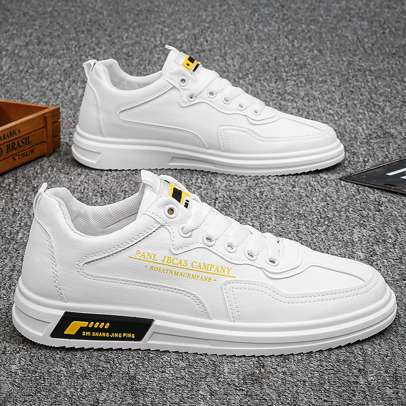 Men's shoes spring 2021 new all-match casual white shoes shoes men's trendy shoes casual leather shoes summer breathable