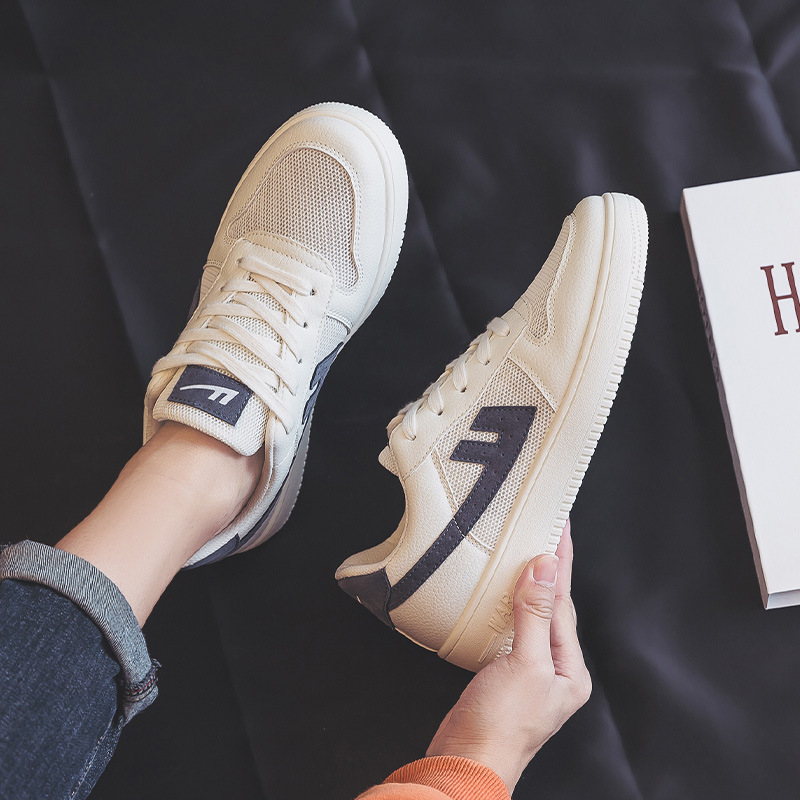 Pull back official flagship store men's shoes summer 2021 thin net shoes breathable sneakers white shoes men 559202-1